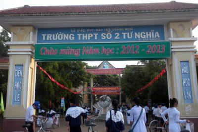 Trường THPT số 2 Tư Nghĩa hơn 30 năm phấn đấu xây dựng và trưởng thành